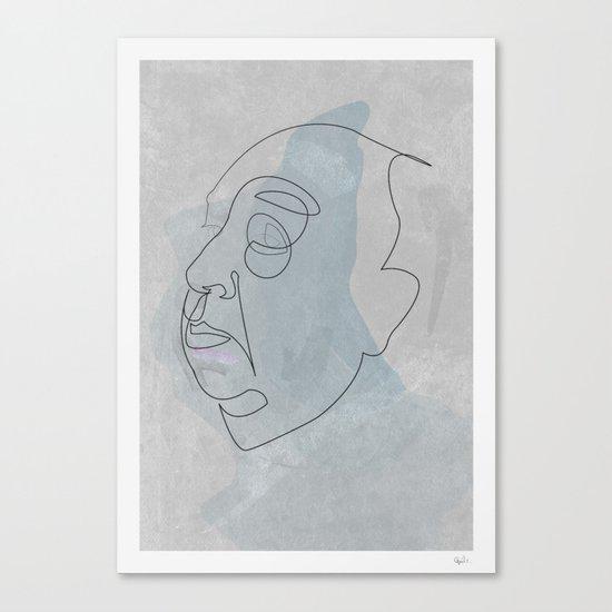 One line Hitchcok Canvas Print