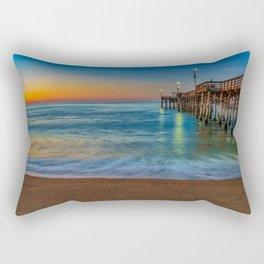 Sunrise Colors at Balboa Pier Rectangular Pillow