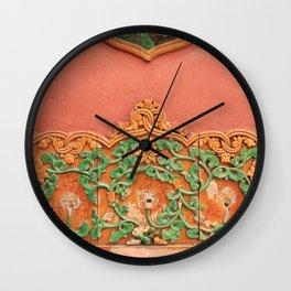 Forbidden Orange & Green Wall Clock