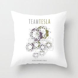 Team Tesla Throw Pillow