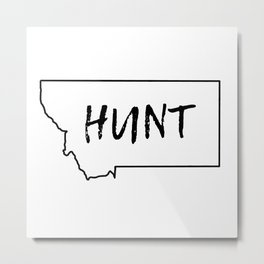 Hunt - Montana Metal Print