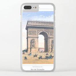 Paris art print Paris Decor office decoration vintage decor ARC DE TRIOMPHE of Paris Clear iPhone Case