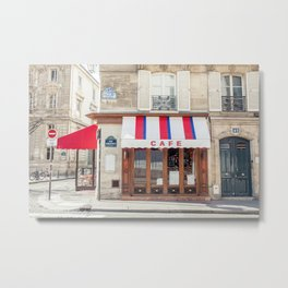 Parisian Cafe  Metal Print