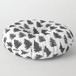 pine trees Floor Pillow