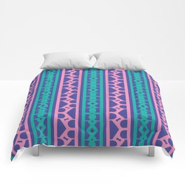 Seamless pink / The R Pattern 2 / 90s retro Comforters