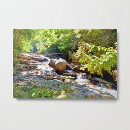 Mountain Waterfall Metal Print