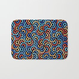 Seamless Colorful Geometric Pattern XXXI Bath Mat