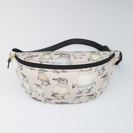 Penguins in sweaters Fanny Pack