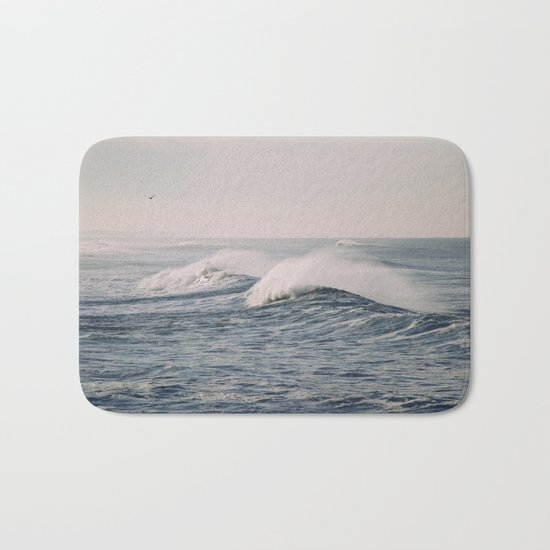 stormy waters Bath Mat