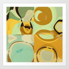 RETRO Mid Century Modern Pattern Abstract Geometric Art by Michel Keck Art Print