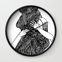 a not so suede soul Wall Clock