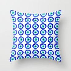Evil Eye Talisman - on white Throw Pillow