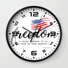 Freedom #3 4th of July Wall Clock