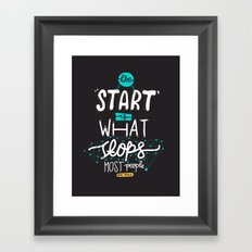 What Stops Framed Art Print