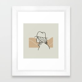 Woman in The Wild Framed Art Print