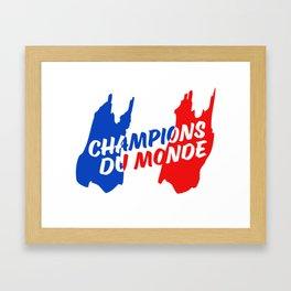 World Champions French Soccer Football Framed Art Print