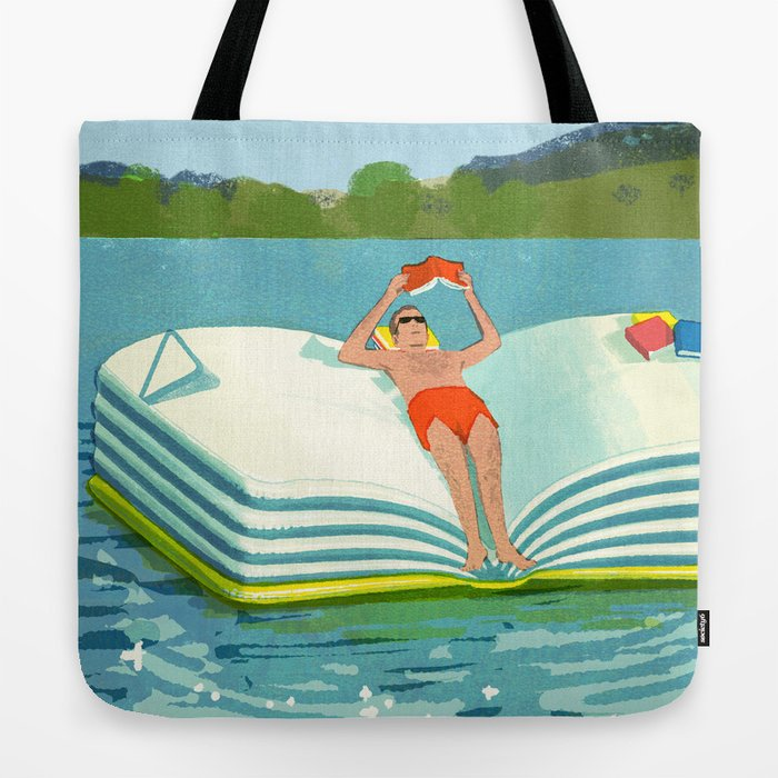Summer Reading on the Lake Tote Bag