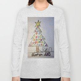 Christmas Tree Train Long Sleeve T-shirt