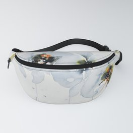 White Orchid in Watercolor Fanny Pack