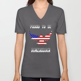 Proud To Be American - Patriot/Independence Day Unisex V-Neck