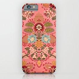 Vintage baroque on pink background illustration pattern iPhone Case