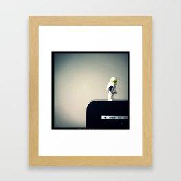 Geek Neil Framed Art Print