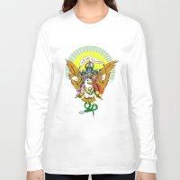 hindu Long Sleeve T-shirts featuring Hindu Universe by MARICAMA