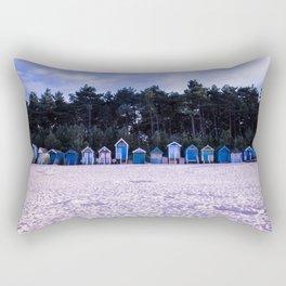 Norfolk Beach Huts Rectangular Pillow