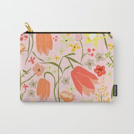 Wildflowers {pink} Carry-All Pouch