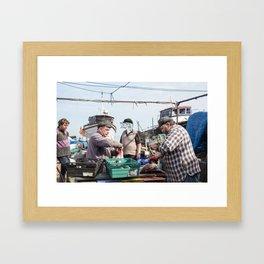 Fishermen & Fishman Framed Art Print
