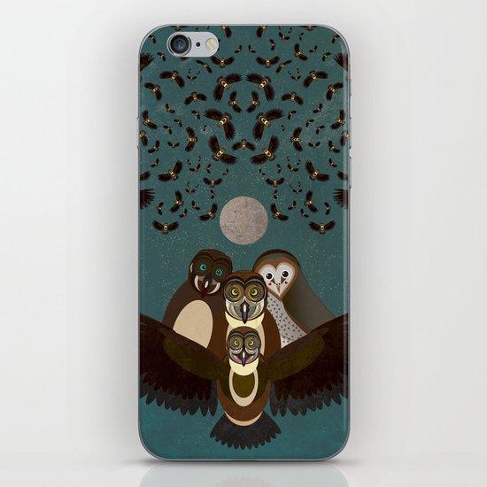 Owls in the Sky iPhone & iPod Skin