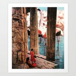Pillars of Paradise Art Print