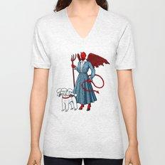 Devil With A Blue Dress On Unisex V-Neck