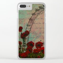 Poppies and Pink Skies Clear iPhone Case