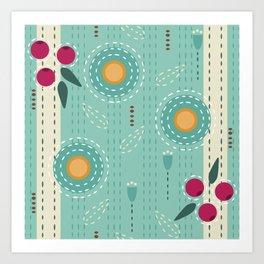 Sashiko Meadow Art Print