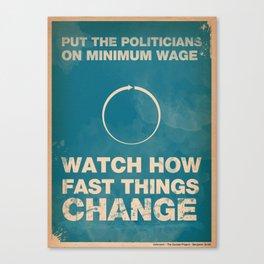Politicians Canvas Print