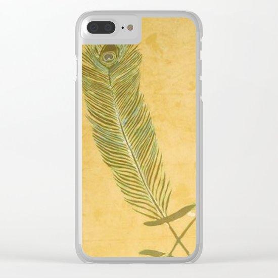 Peacock Batik Clear iPhone Case