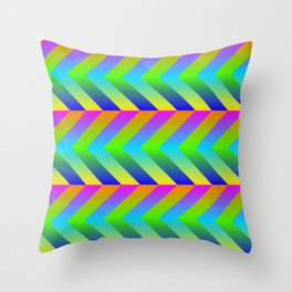 Colorful Gradients Throw Pillow