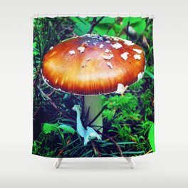 A Shroom in the Gloom Shower Curtain