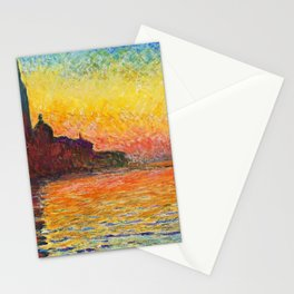 Claude Monet Sunset In Venice Stationery Cards