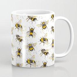 Fluffy Bumblebees (Pattern) Coffee Mug