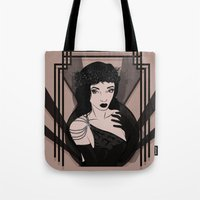 art deco Tote Bags featuring Art Deco by Krakich