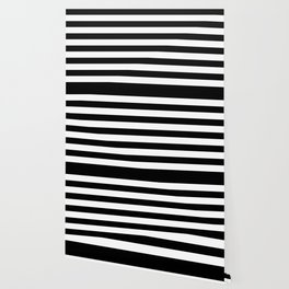f6285dc6904df Black and White Medium Stripes Pattern Wallpaper