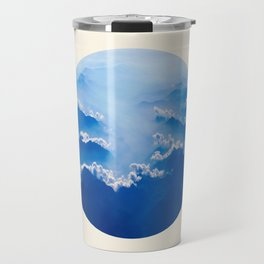 Mountains With Their Company Of Clouds Circle Photo Travel Mug