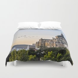 Almudena cathedral of Madrid Duvet Cover