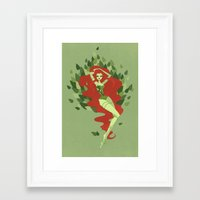 poison ivy Framed Art Prints featuring Poison Ivy by LittlePaperForest