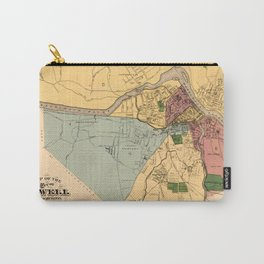 Map Of Lowell 1881 Carry-All Pouch