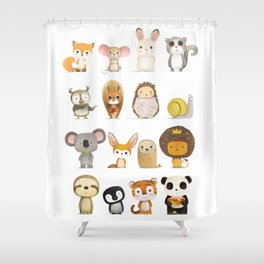 Mr. Lion, Mr. Squirrel & Their Friends Shower Curtain