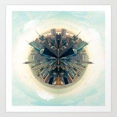 Parallel New York Cities Art Print