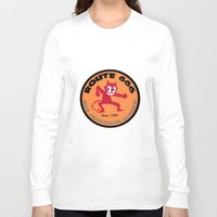 decal Long Sleeve T-shirts featuring Hot Rod Retro Decal by Pixel Villain